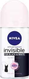 Nivea Invisible Black & White Clear kuličkový antiperspirant