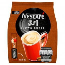Nescafé 3v1 Brown Sugar instantní káva 10ks