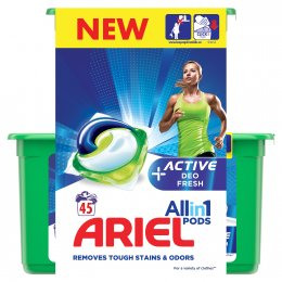 Ariel Active Sport All in 1 gelové kapsle 45ks