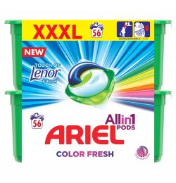 Ariel Touch of Lenor prací kapsle 56ks