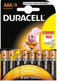 Duracell Basic AAA 2400 8ks