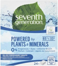 Seventh Generation AiO Free&Clear tablety to myčky 24ks