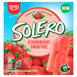 Solero Smoothie Jahoda multipack 6x55 ml
